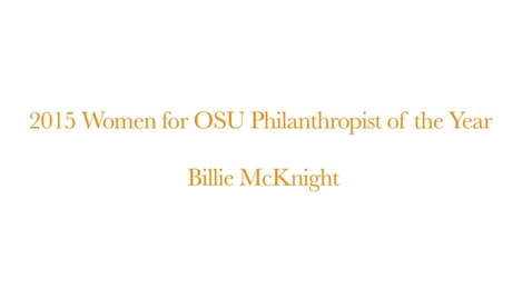 Thumbnail for entry Women of OSU Philanthropist of the Year