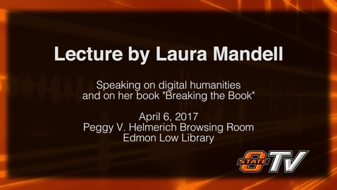 Thumbnail for entry REBROADCAST: Rethinking the Scholarly Monograph in the Digital Age with Dr. Laura Mandell
