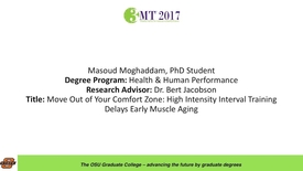 Thumbnail for entry Masoud Moghaddam, PhD Student: Move Out of Your Comfort Zone: High Intensity Interval Training Delays Early Muscle Aging