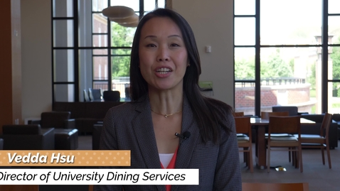 Thumbnail for entry University Dining Services - New Student Orientation 2020