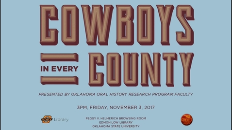 Thumbnail for entry Cowboys In Every County