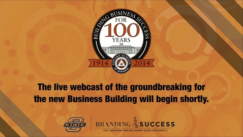 Thumbnail for entry New Business Building Groundbreaking Ceremony