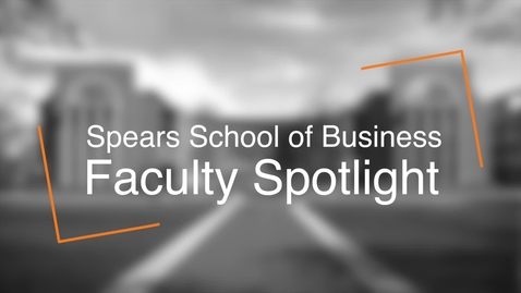 Thumbnail for entry Spears School Faculty Spotlight - Lex Smith