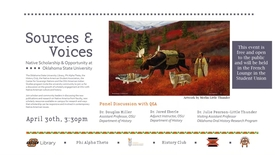 Thumbnail for entry Sources and Voices: Native Scholarship & Opportunity at Oklahoma State University.