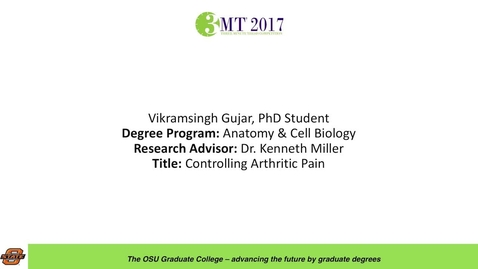 Thumbnail for entry Vikramsingh Gujar, PhD Student: Controlling Arthritic Pain