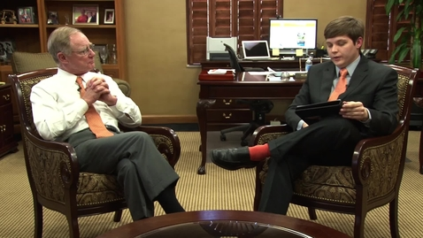 Thumbnail for entry OStateReport Interview With President Burns Hargis (part 4 of 4)