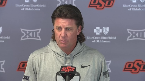Thumbnail for entry OSU/WVU: Gundy Speaks to the Media