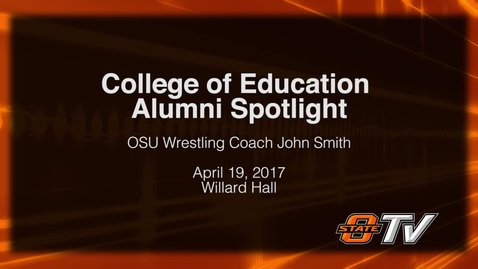 Thumbnail for entry College of Education Alumni Spotlight: Coach John Smith