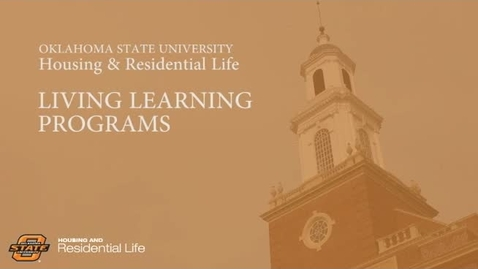 Thumbnail for entry Housing and Residential Life Living Learning Programs