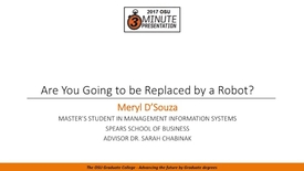 Thumbnail for entry 2017 3MP Finals - Are you going to be Replaced by a Robot?