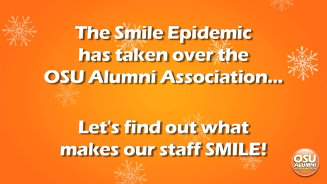 Thumbnail for entry Alumni Association Staff Share Their Smiles