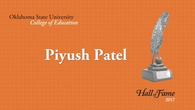 Thumbnail for entry College of Education Hall of Fame: Piyush Patel
