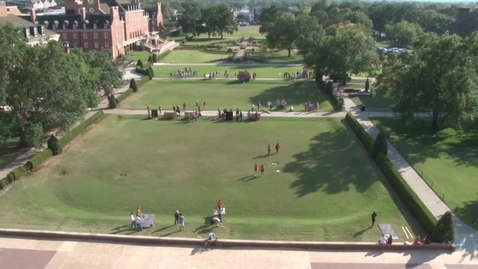 Thumbnail for entry Homecoming 2014 Timelapse:  Putting Up Lawn Signs