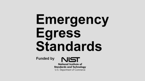 Thumbnail for entry Emergency Egress Standards