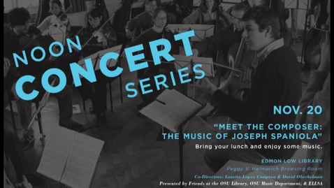 Thumbnail for entry Noon Concert Series: Nov. 20