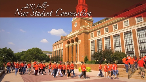 Thumbnail for entry 2013 New Student Convocation