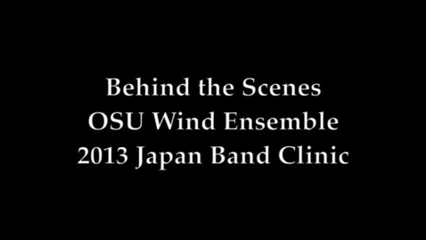 Thumbnail for entry Wind Ensemble Prepares to Perform in Japan