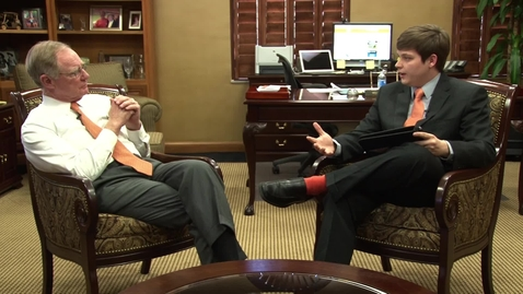 Thumbnail for entry OStateReport Interview With President Burns Hargis (part 3 of 4)