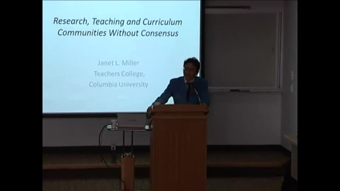 Thumbnail for entry OSU Curriculum Studies Project Lecture presented by Janet Miller