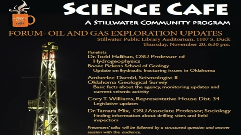 Thumbnail for entry Science Cafe presents Oil and Gas Exploration Updates