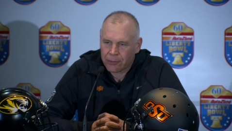 Thumbnail for entry AUTOZONE LIBERTY BOWL:  Jim Knowles Speaks to the Media