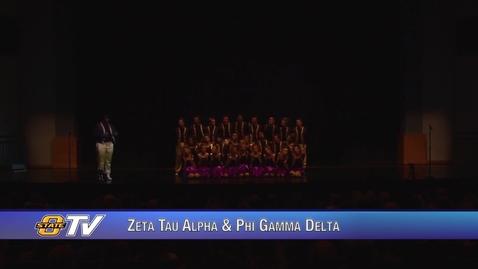Thumbnail for entry Freshman Follies 2017:  Zeta Tau Alpha & Phi Gamma Delta