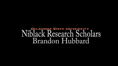 Thumbnail for entry Brandon Hubbard - Niblack Research Scholars 2013-14