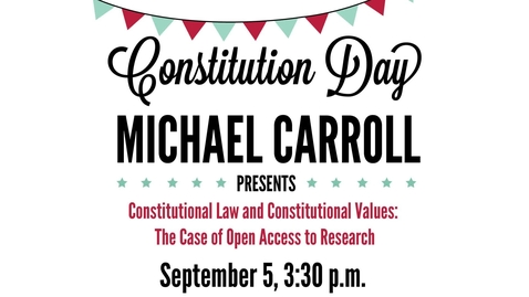 Thumbnail for entry Open Access Interview with Michael Carroll