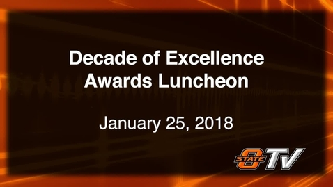 Thumbnail for entry ENERGY MANAGMENT:  Decade of Excellence Awards Luncheon