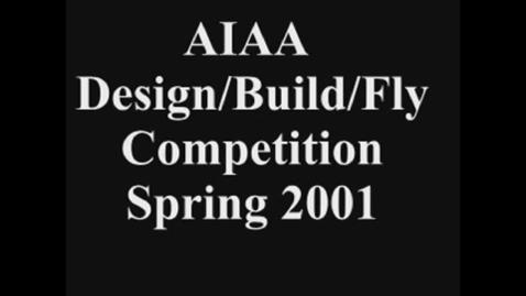 "Thumbnail for entry Aerospace Design: 2001 Team Black ""Raven"" Small"