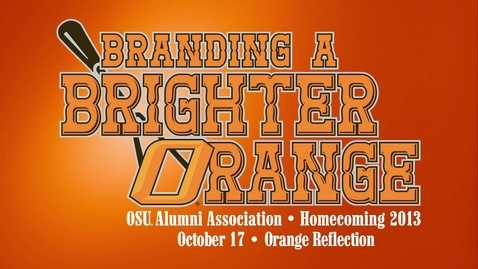 Thumbnail for entry Homecoming 2013: Orange Reflection