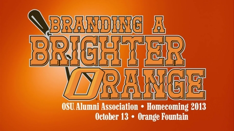 Thumbnail for entry Homecoming 2013: Orange Fountain