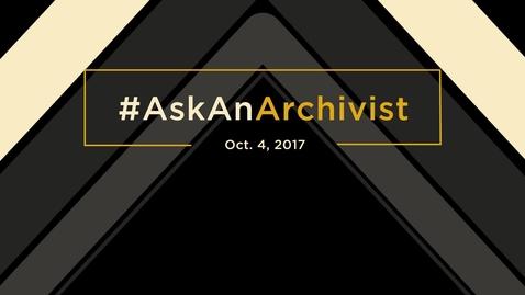 Thumbnail for entry #AskAnArchivist Oklahoma Oral History Research Program