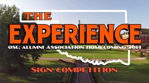 Thumbnail for entry Homecoming 2014: Sign Competition