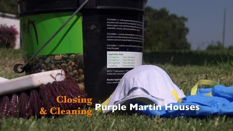 Thumbnail for entry Closing & Cleaning Purple Martin Houses