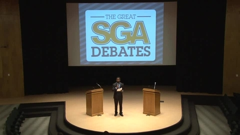 Thumbnail for entry SGA Presidential Debate 2-12-13