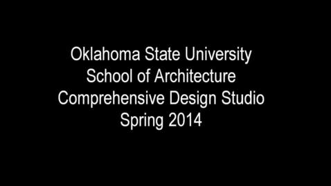 Thumbnail for entry Comprehensive Design Studio 2014
