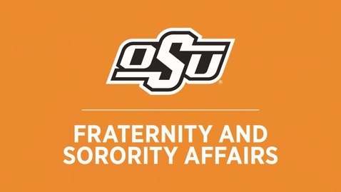 Thumbnail for entry Fraternity and Sorority Affairs: New Student Orientation Webinar
