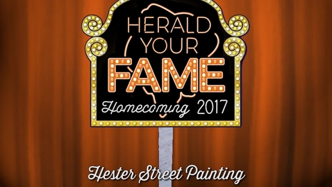 Thumbnail for entry Homecoming 2017: Hester Street Painting