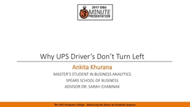 Thumbnail for entry 2017 3MP Finals - Why UPS Driver's Don't Turn Left