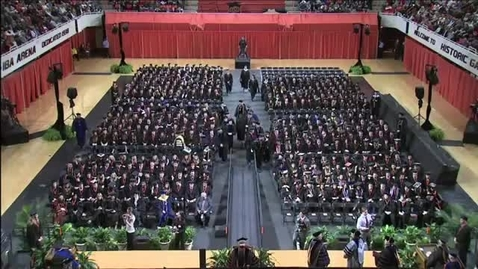 Thumbnail for entry Fall 2013 Commencement:  College of Arts & Sciences