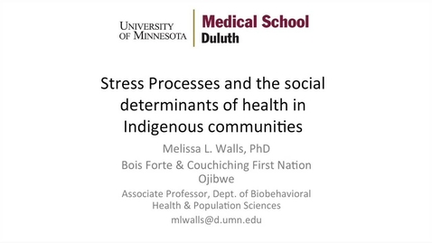 Thumbnail for entry Psychology Colloquium, Melissa Walls