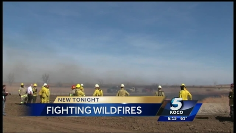 Thumbnail for entry IN THE NEWS: Firefighters Learn to Fight Wildfires in Oklahoma