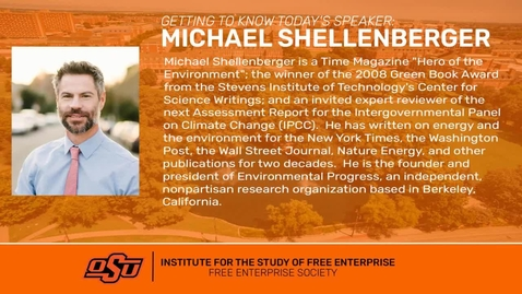 Thumbnail for entry REBROADCAST:  The Science, Economics, & Ethics of Climate Change & Environmental Alarmism