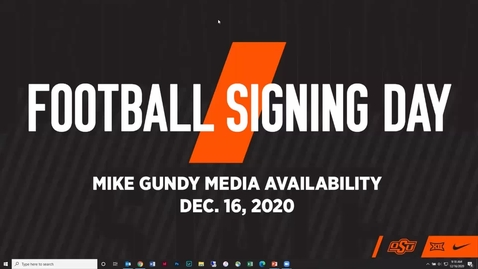 Thumbnail for entry FOOTBALL: Mike Gundy Signing Day