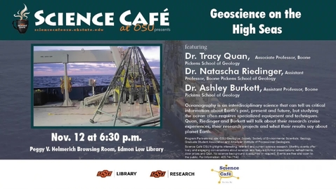 Thumbnail for entry Science Cafe presents Geoscience on the High Seas