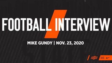 Thumbnail for entry FOOTBALL:  Mike Gundy Previews OSU/TTU