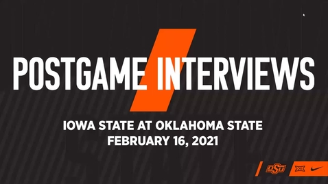 Thumbnail for entry COWBOY BASKETBALL:  OSU/ISU Postgame Interviews