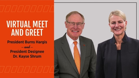 Thumbnail for entry REBROADCAST:  Virtual Meet and Greet with OSU President Designee Dr. Kayse Shrum