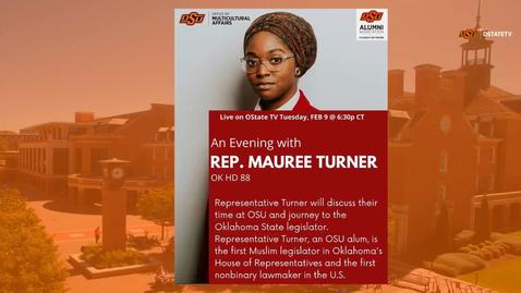 Thumbnail for entry REBROADCAST :   An Evening with Representative Mauree Turner
